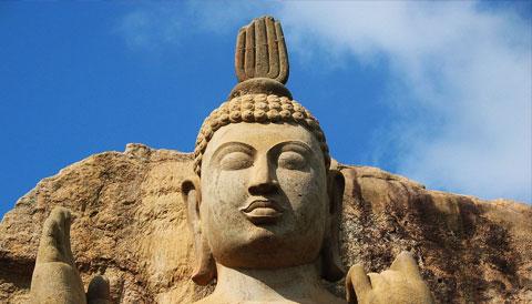 Avukana Buddha Statue Sri Lanka