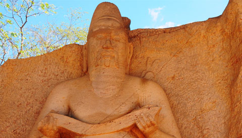 Statue of Parakramabahu or Pulastya Rishi Sri Lanka